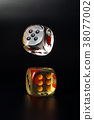 Colorful playing gaming dice 38077002