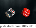 Colorful playing gaming dice 38077013