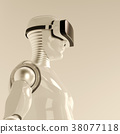Robot in virtual reality glasses 38077118