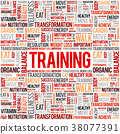 TRAINING word cloud collage 38077391