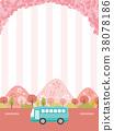 ฤดูใบไม้ผลิ,รถบัส,ดอกซากุระบาน 38078186