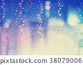 Colorful blurred urban building background 38079006