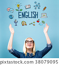 English with young woman 38079095