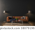 Blank wall interior mock up 38079196