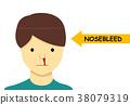Isolated Nosebleed on man in Vector cartoon design 38079319