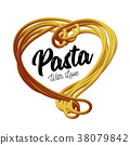 Vector pasta in the form of heart.. Traditional 38079842