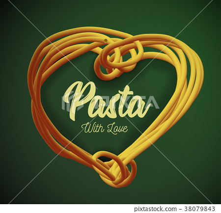 Vector pasta in the form of heart.. Traditional 38079843