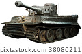 Tiger tank in steel grey 38080211