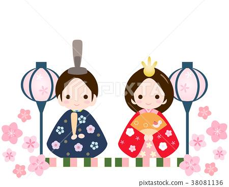 女儿节娃娃 女孩节 女孩的节日 38081136