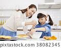烹飪,母親,女兒,韓國人 38082345