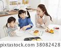 烹飪,母親,女兒,韓國人 38082428
