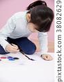 그림그리기,어린이,한국인 38082629