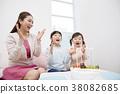 주택,생활,가족,엄마,딸,한국인 38082685