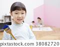 writing brush, hair pencil, brush 38082720