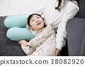 눕기, 딸, 미소 38082926