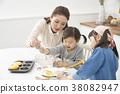 烹飪,母親,女兒,韓國人 38082947