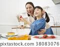 烹飪,母親,女兒,韓國人 38083076