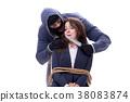 Knifeman threatening tied woman 38083874