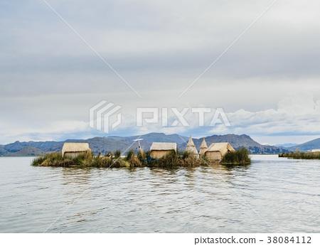 Uros Islands on Lake Titicaca in Peru 38084112