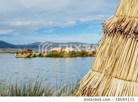 Uros Islands on Lake Titicaca in Peru 38084115
