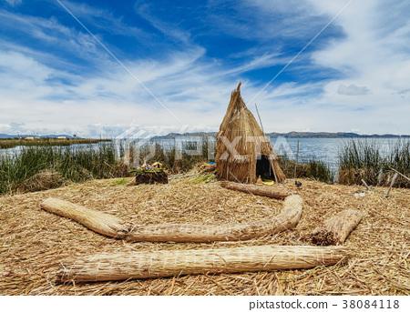 Uros Islands on Lake Titicaca in Peru 38084118