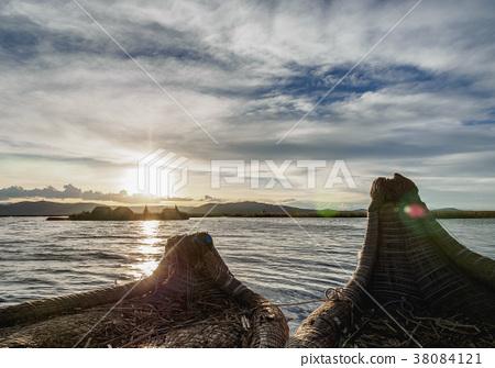 Uros Islands on Lake Titicaca in Peru 38084121
