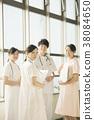 医院的微笑的护士 38084650