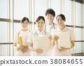 医院的微笑的护士 38084655