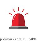 警報器 閃光 紅色 38085096