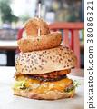 漢堡包美國漢堡橫斷面有機大 38086321
