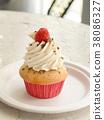 杯形蛋糕美国五颜六色的杯形蛋糕流行美国蛋糕纽约 38086327