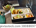 japanese cuisine. lunch box set on the background 38088697