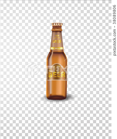 Premium beer bottle isolated on  transparent  38089806
