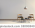 3D rendering of interior room with armchair  38090840