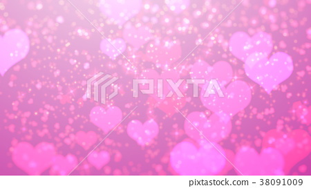 Love valentine on pink with hearts, blur, colorful 38091009