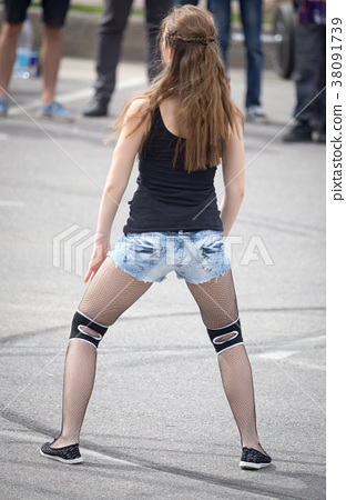 Booty pics girls Beautiful Booty Girls In Black Pantyhose Stock Photo 38091739 Pixta