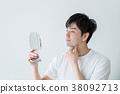 남성, 남자, 거울 38092713