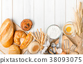 Homemade bread or bakery with fresh egg 38093075