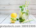 lemon, mint, detox 38093906