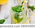 lemon, mint, detox 38093909