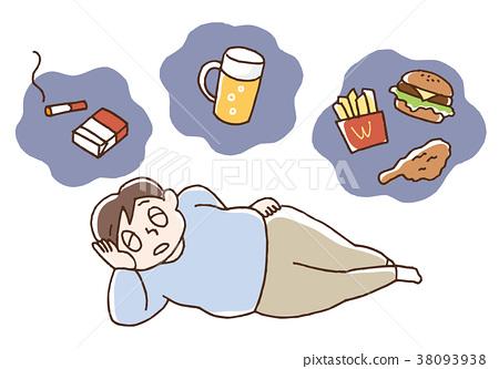 肥胖 不規則 男人 38093938