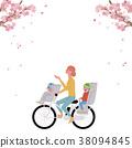 春天自行車例證 38094845