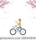 春天自行車例證 38094846