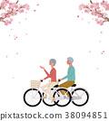 春天自行車高級插圖 38094851