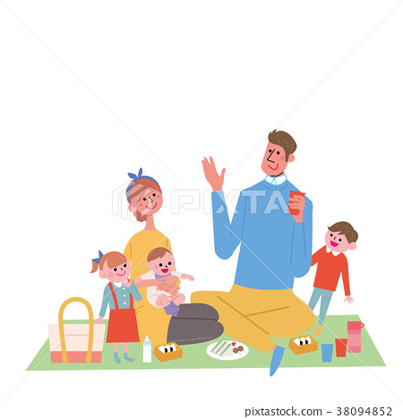 父母和孩子的插圖 38094852