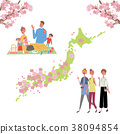 赏花 观赏樱花 樱前线 38094854
