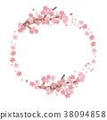 樱花 樱桃树 矢量 38094858