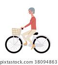 騎自行車的資深婦女 38094863