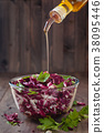 Salad with red  cabbage. 38095446