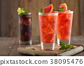 Fresh grapefruit lemonade. 38095476